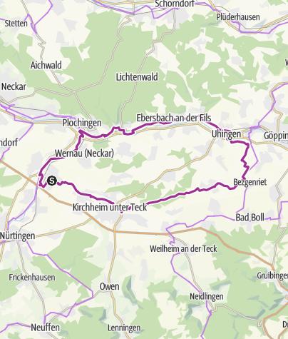 Karte / AOK-Radsonntag 2010: Voralb-Tour