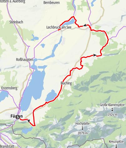 Karte / Schlossparkradrunde im Allgäu - Abschnitt 1