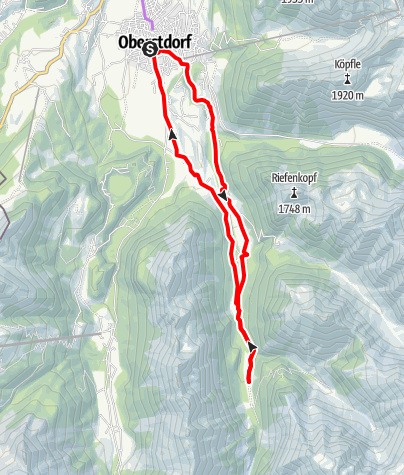 Karte / Radwanderung Trettachtal