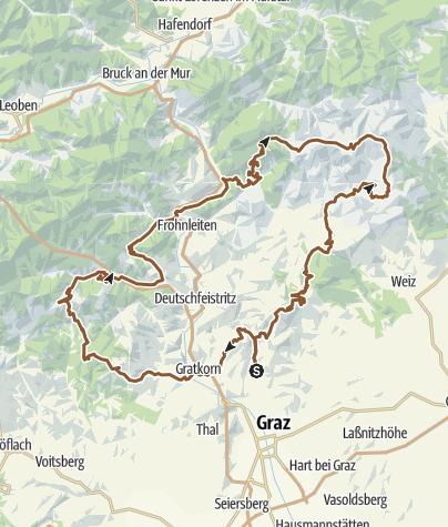 Map / Grazer Bergland-Tour