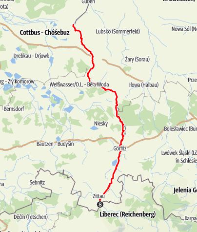 Karte / Oder-Neiße-Radweg