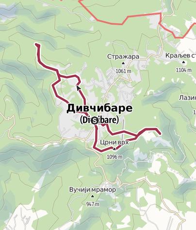 Hartă / Divčibare SRB:  Crni vrh