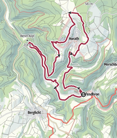 Karte / Traumschleife Dhrontal-Wackentour