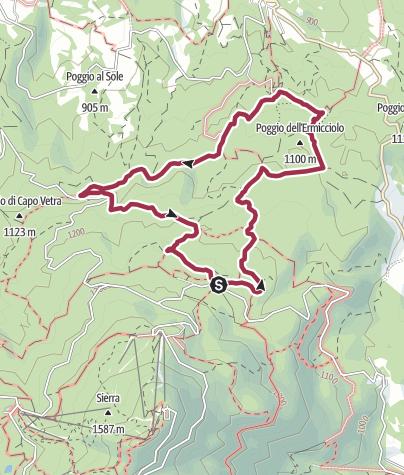 Map / Anello Primo Rifugio/Ermicciolo/Capo Vetra