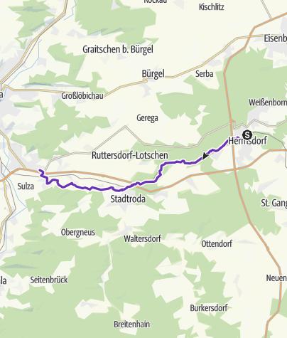 Karte / Hermsdorf - Jena über den Zeitzgrund