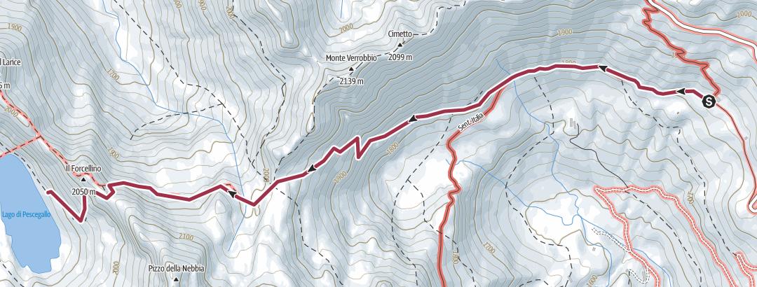 מפה / Cà S.Marco-P.Verrobbio-P.Forcellino-L. Pescegallo