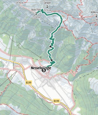 Karte / Rot Flüh 2.108 m