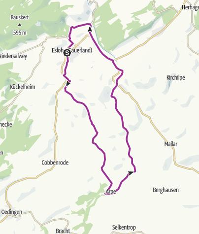 Karte / Die Esloher Familien-Tour