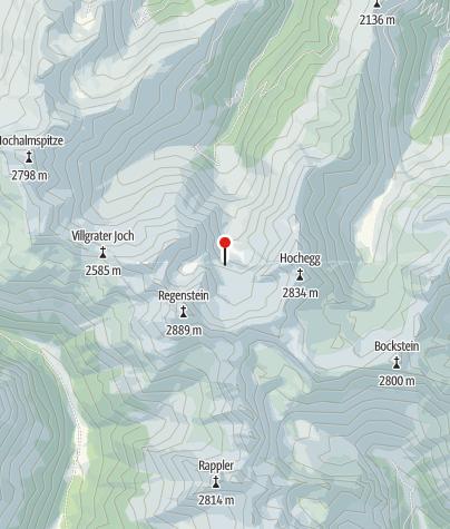 Karte / Glaurithütte oder Geigenseehütte