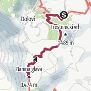 Mapa / Babina Glava (1474m)