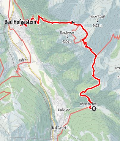 Karte / Bad Gastein: Gamskarkogelhütte