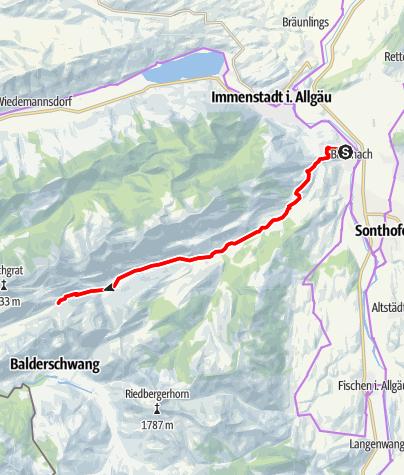 Karte / Gunzesrieder Sennalptour