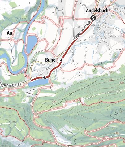 Karte / Barrierefrei: Andelsbuch – Ein Wälder Kulturweg