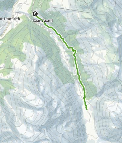 Map / Davos/Clavadel - Sertig Dörfli