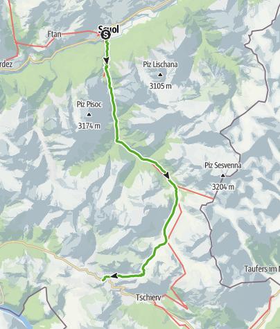 Map / Scuol – S-charl – Süsom Givè