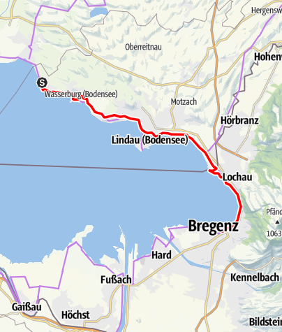Karte / Bodenseeradweg FRW