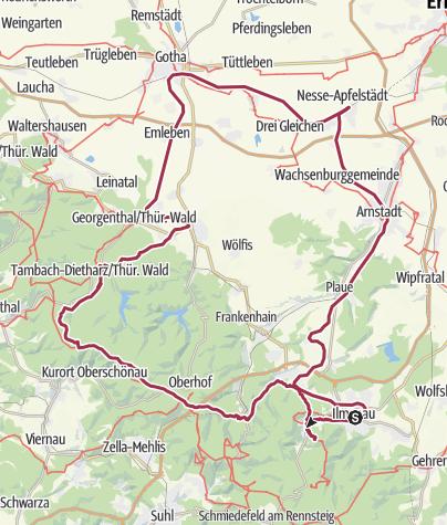 Map / Klettertour im Thüringerwald