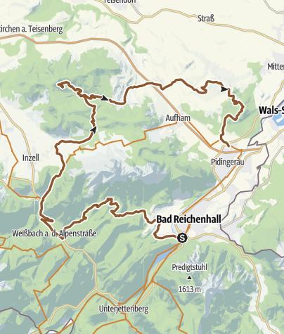 Karte / MTB: BGL - Bikerunde Nord (Abschnitt 3)