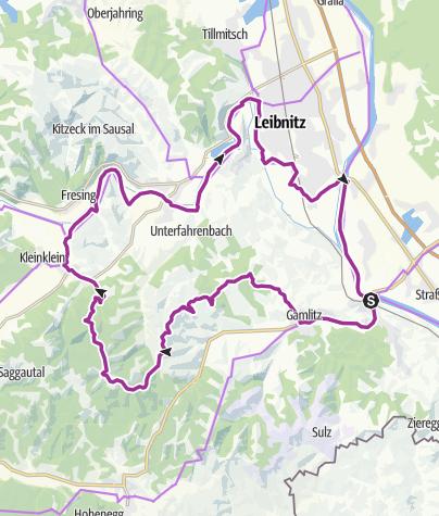 Karte / Weinstraßen Tour Variante 1