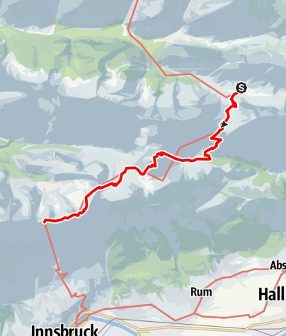 Karte / Adlerweg Etappe 12: Aus der Bergeinsamkeit in die Stadt