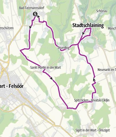 Karte / B50 Vier-Jahreszeiten-Radwanderweg