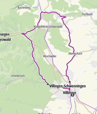 Karte / Villingen-Route