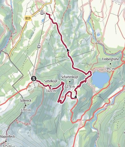 Karte / Söllereck und Freibergsee