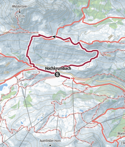 Map / Widdersteinhütte übers Schärtle