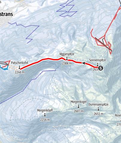 Karte / Schneeschuhwanderung Glungezer - Patscherkofel