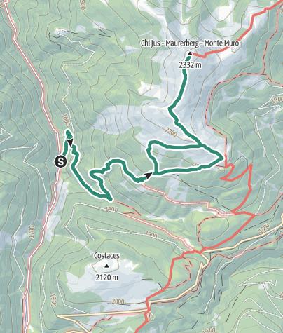 Cartina / Da Luson al Monte Muro