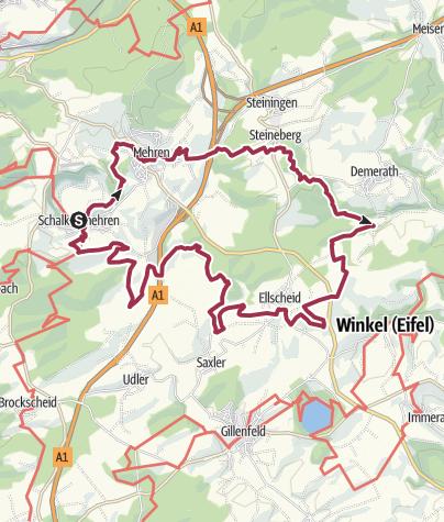 Karte / Vulkaneifel-Pfad: Vulcano-Pfad (Rundtour) (Schalkenmehren)