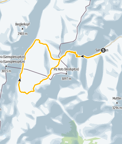 Map / Heidelberger Hütte