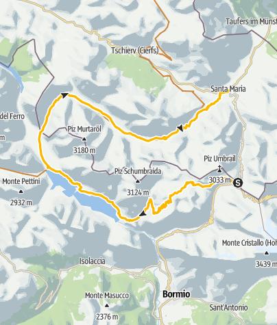 Map / Bocchetta di Forcula – Bocchetta di Pedenolo - Val Mora Tour: Singletrailgarantie und Spuren des 1. Weltkrieges erleben.