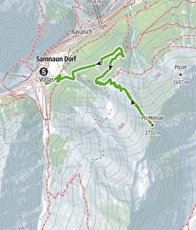 Karte / Von Samnaun auf den Piz Motnair