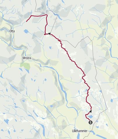 Map / Rondane trail: Nordseter - Rondvassbu
