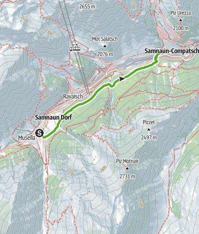 Map / Talwanderweg Inner Wald