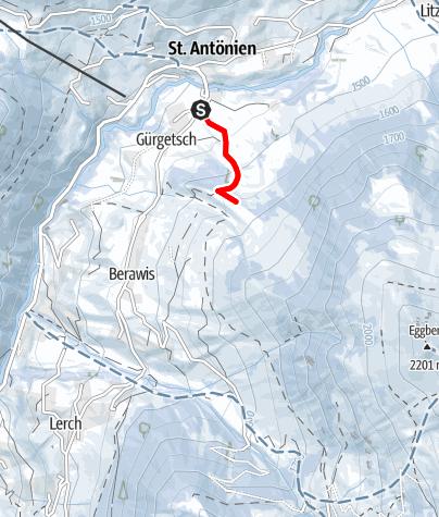 Map / Kleine Gürgetschwald-Tour (markierter Trail Nr. 20)