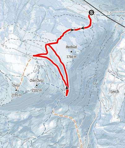 Map / Panoramarunde Alp Valpun (markierter Trail Nr. 25)