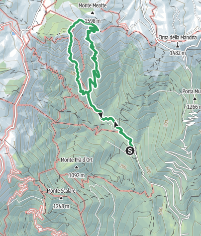 Karte / Percorso attrezzato Sass Brusai auf den Monte Boccaòr