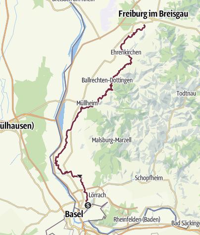 Karte / Markgräfler Wiiwegli- die Genießer-Tour