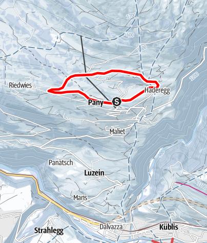 Map / Kleine Dorfrunde Pany (markierter Trail Nr. 10)