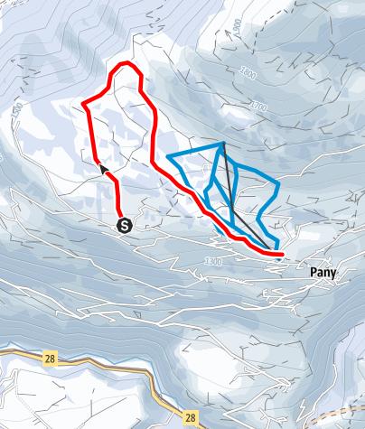 Map / Rundtour Panyer Maiensässe (markierter Trail Nr. 12)