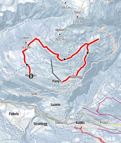 Map / Rundtour Galondis - Bova (markierter Trail Nr. 13)