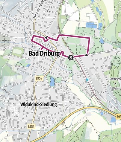 Karte / Historischer Stadtrundgang durch Bad Driburg