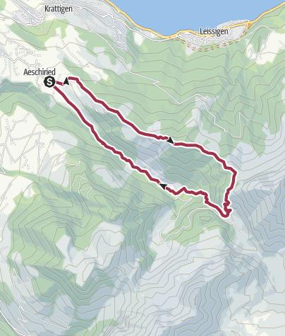 Karte / Über dei Greberegg zum Pochtefall