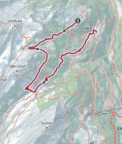 Karte / Isenfluh - Fauteuil des Berner Oberlands