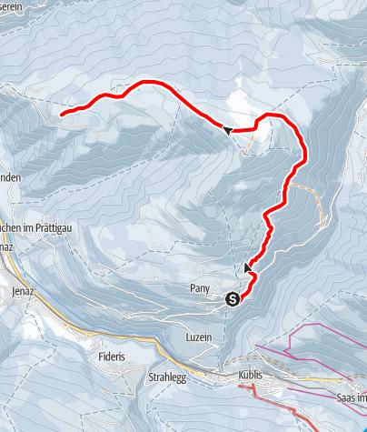 Map / Rätikon Panoramatour Pany - Stelserberg