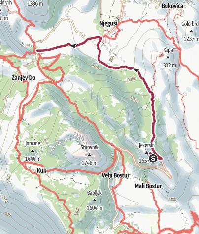 Карта / Lovćen Kids Trail