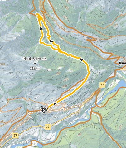 Map / Sinestra Singletrail