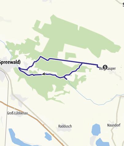 Karte / Paddeln von Burg über Leipe nach Lehde
